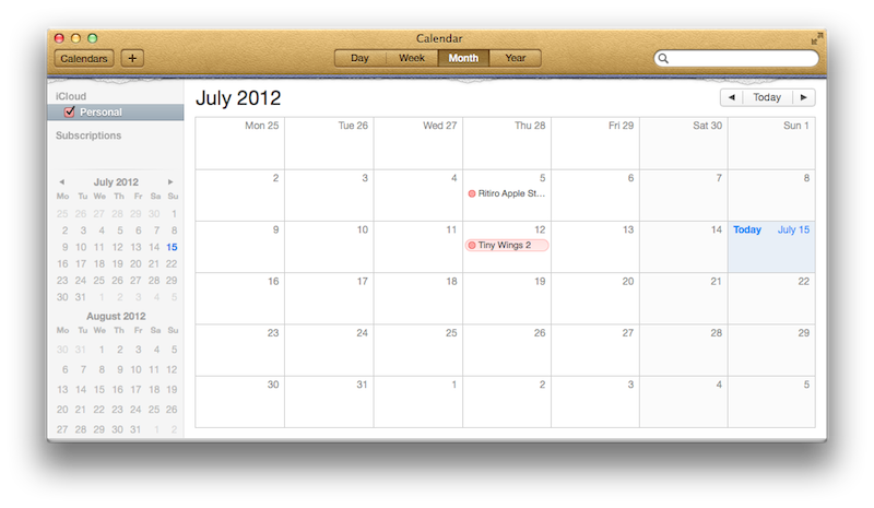 Mountain Lion's Calendar