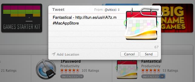 Mac App Store tweet