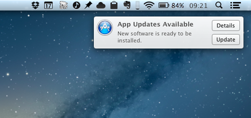Mac App Store app update notifications