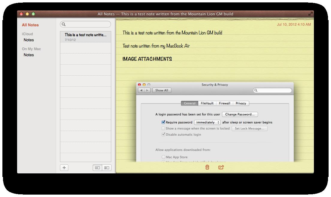 Notes folder list