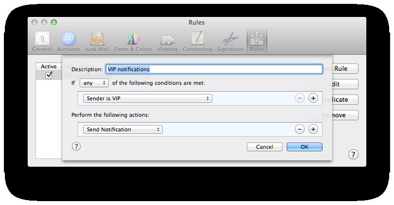 VIP Mail rule