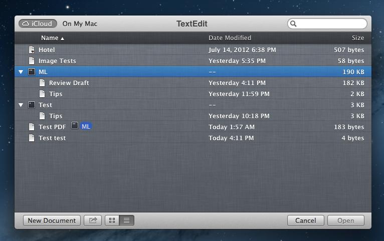 iCloud folders